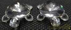 フィギュリン カメ 2匹セット|SWAROVSKI