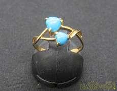 K18青石リング|宝石付きリング