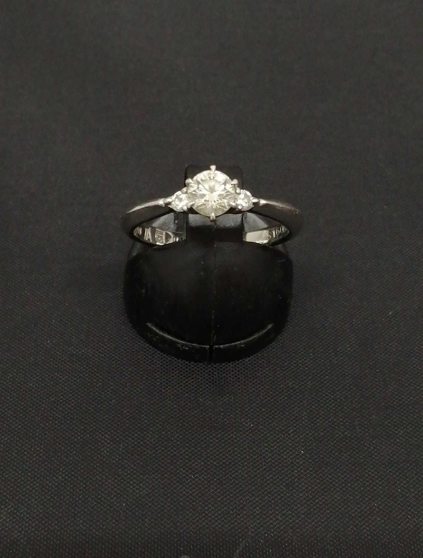 PT1000ダイヤ付きリング|宝石付きリング