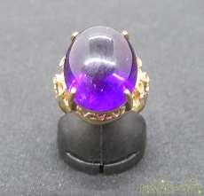 K18リング(石付き)|宝石付きリング