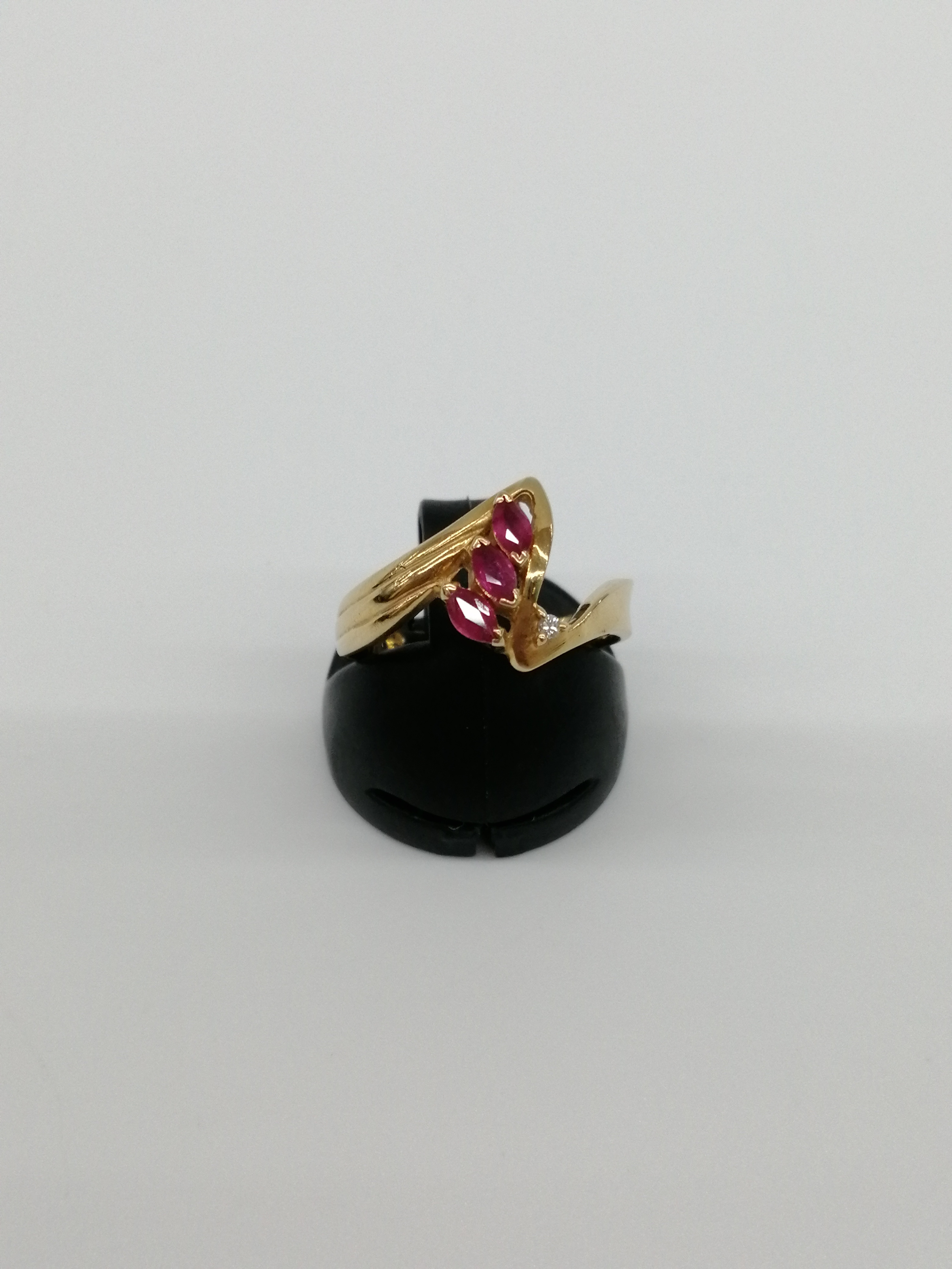 K18リング(石付き0.26,0.01CT)|‐