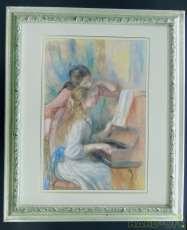 ルノワール 題名 「ピアノを弾く少女たち」(レプリカ)|不明