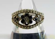 K18WGリング|宝石付きリング