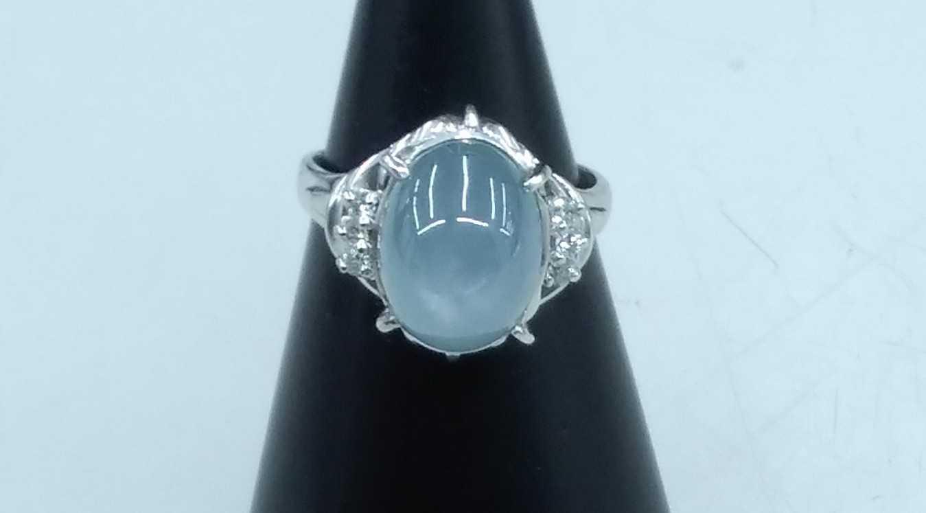 スターサファイア付PT900リング 宝石付きリング