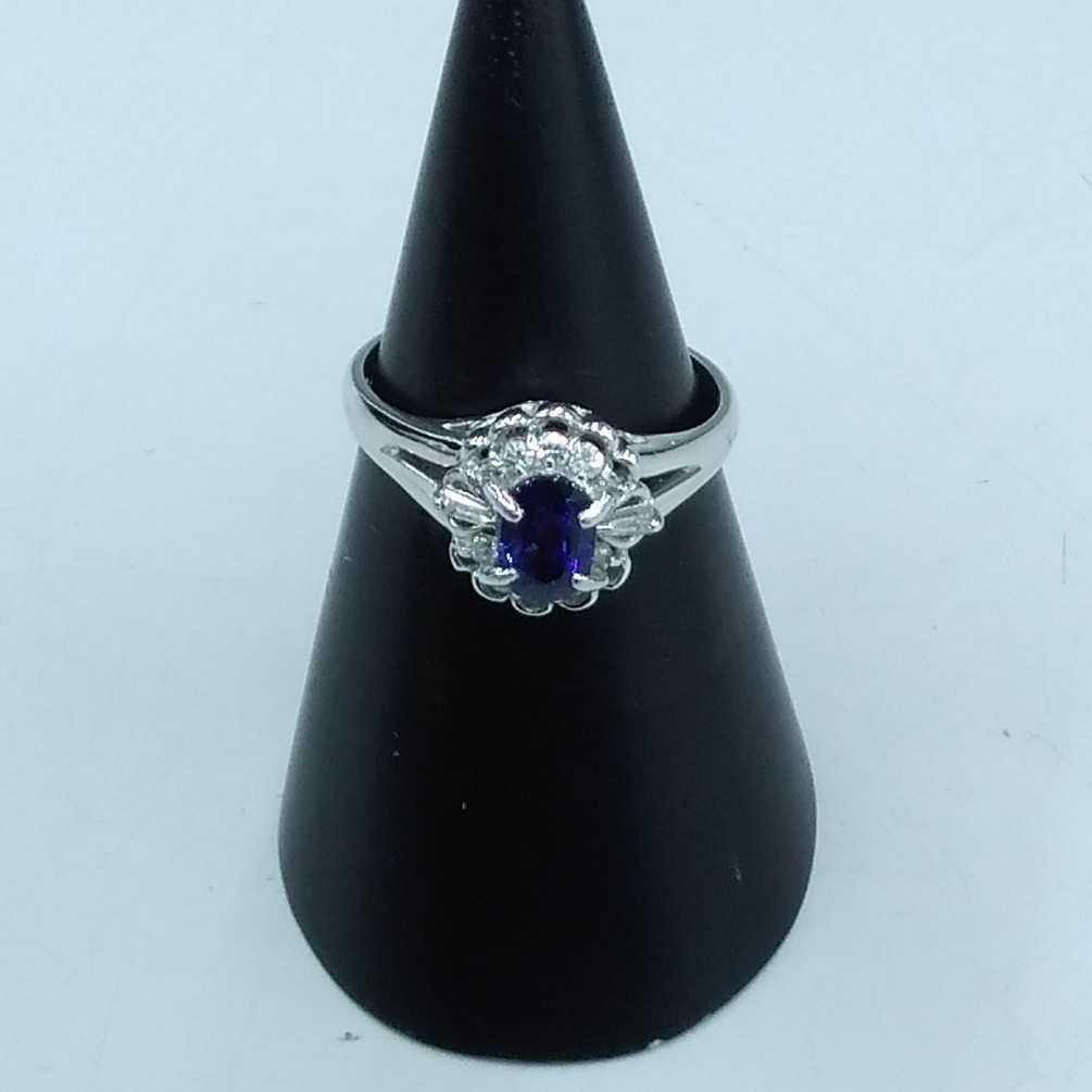 天然サファイアPT900リング 宝石付きリング