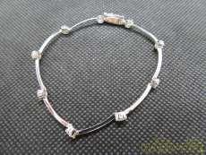 K18WG ダイヤ付きブレスレット|K18WG