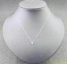 K14WGネックレス(青石付)|宝石付きネックレス