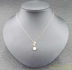 パールトップネックレス|宝石付きネックレス