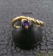 K18リング 紫石付き