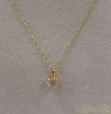 K18ネックレス 宝石付きネックレス