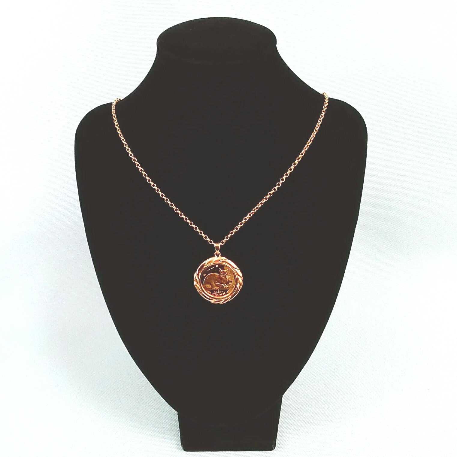 K18コインネックレス|宝石無しネックレス