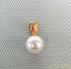 金|宝石付きペンダントトップ