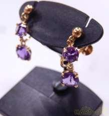 石付きイヤリング 宝石付きイヤリング