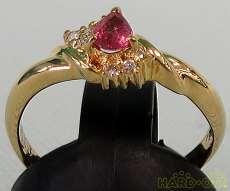 金 宝石付きリング