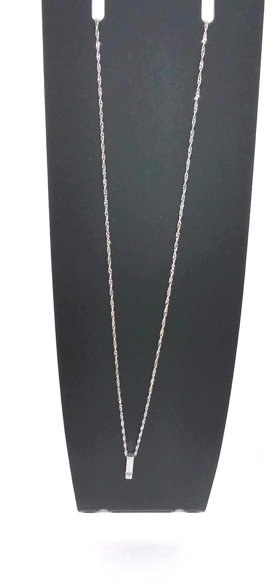 K18WGネックレス|宝石付きネックレス
