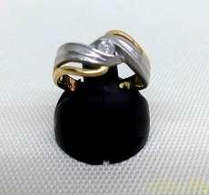 K18PT900コンビリング|宝石付きリング