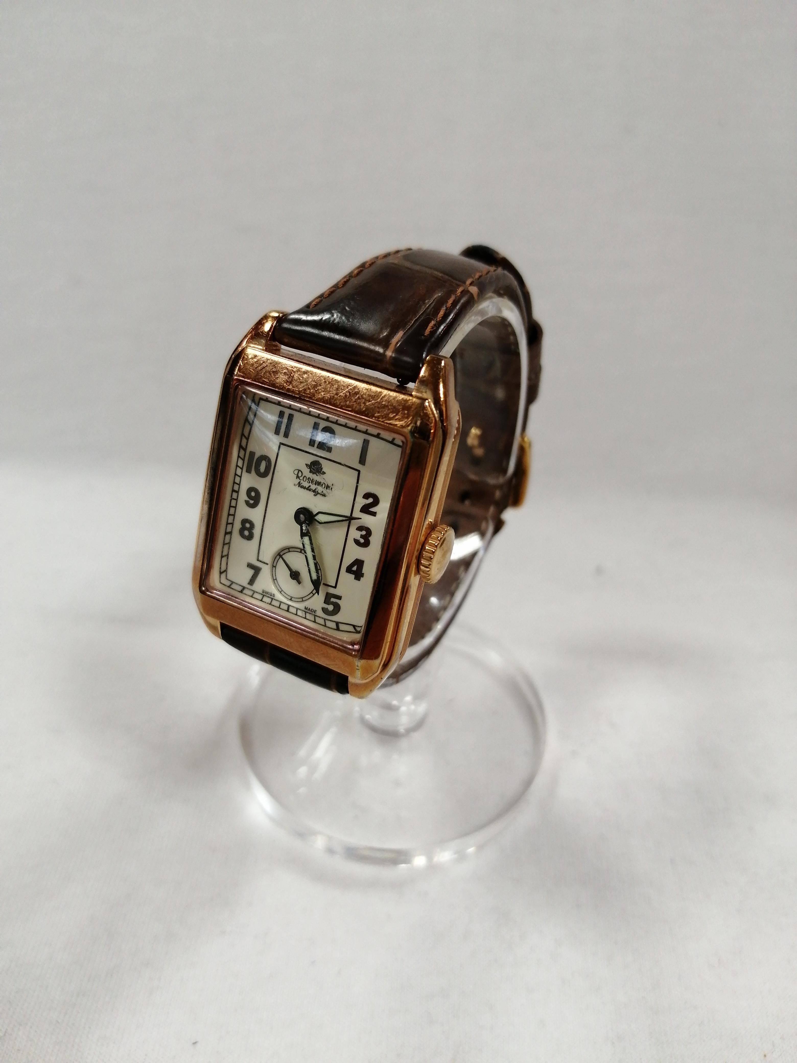 クォーツスクエア腕時計|ROSEMONT×HIROB