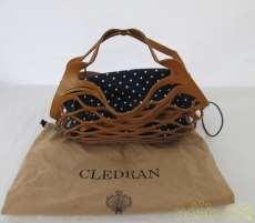 編み込みレザーバッグ|CLEDRAN