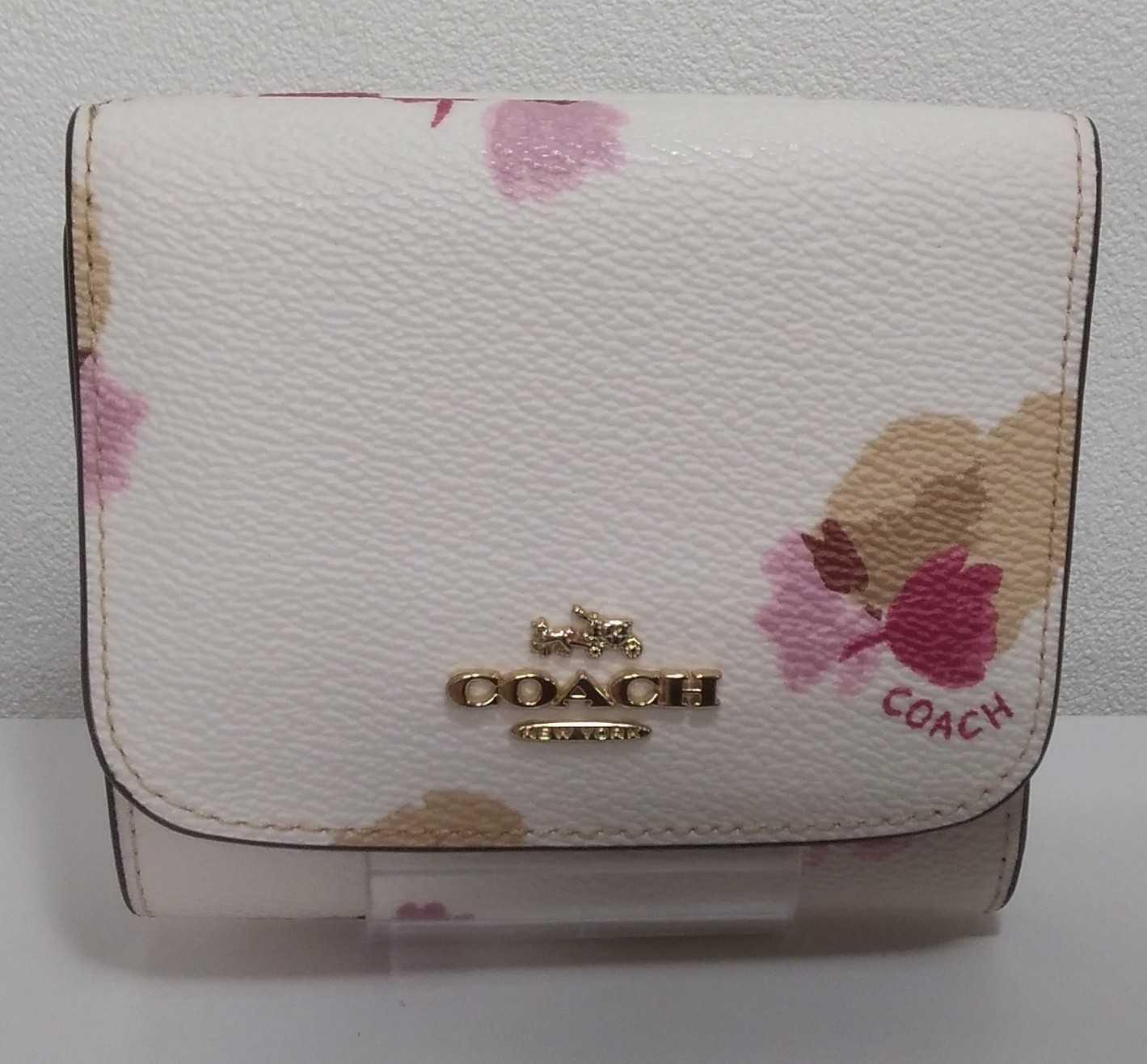 花柄三つ折財布 COACH