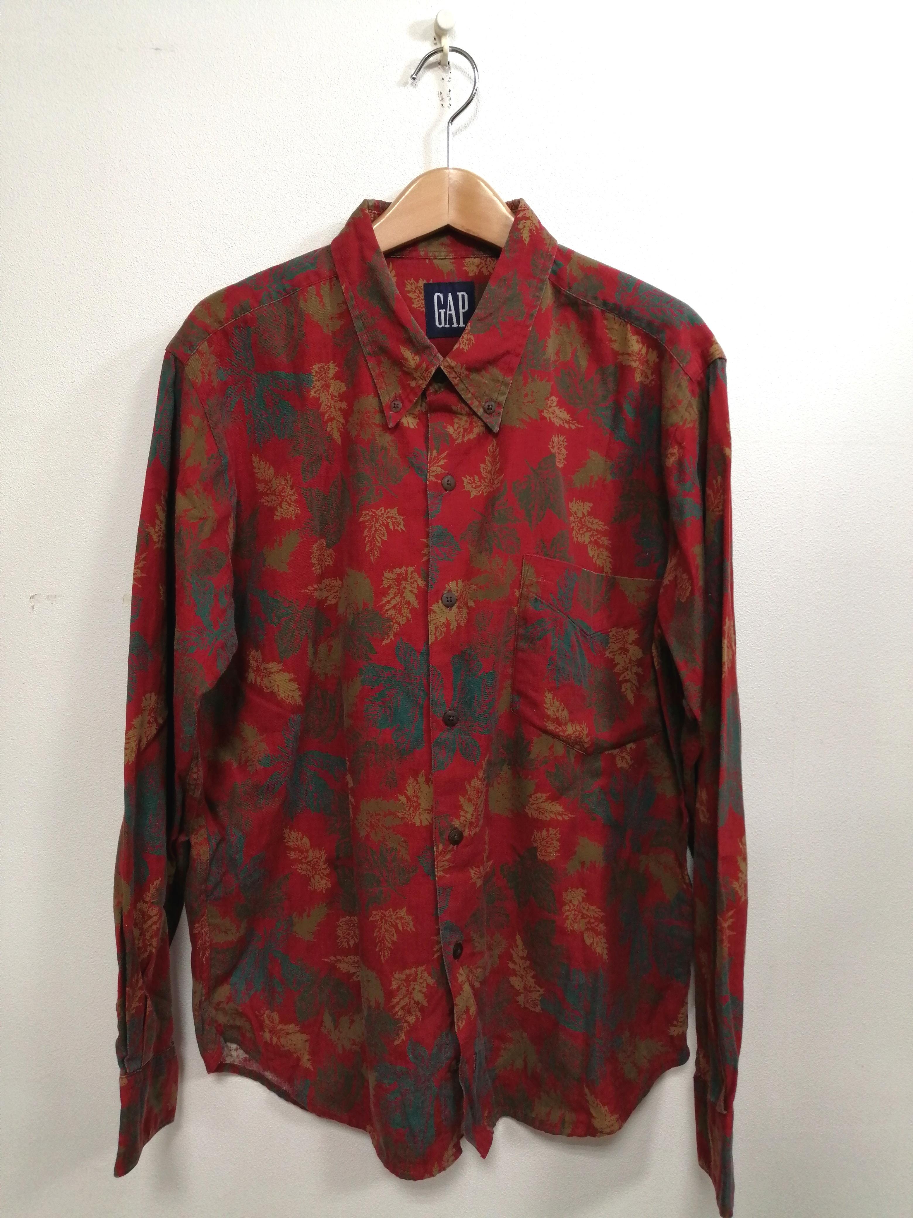 総柄リーフシャツ OLD GAP