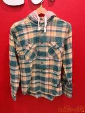 フード付フランネルチェックシャツ|XLARGE