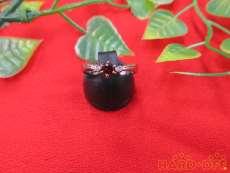 PT850リング 装飾付き|宝石付きリング