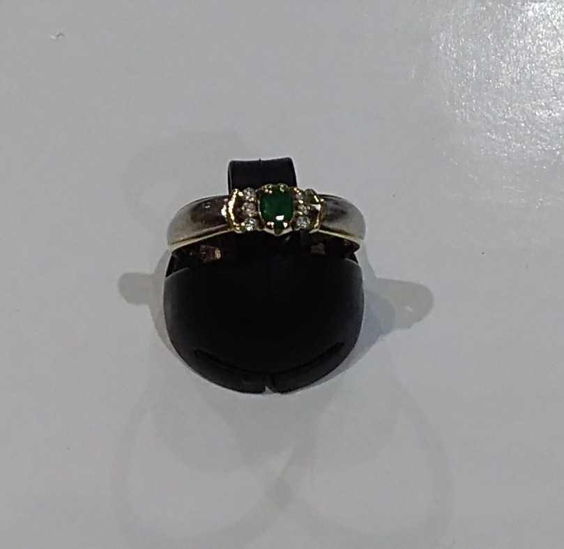 K18PT900リング 緑石|K18PT900リング