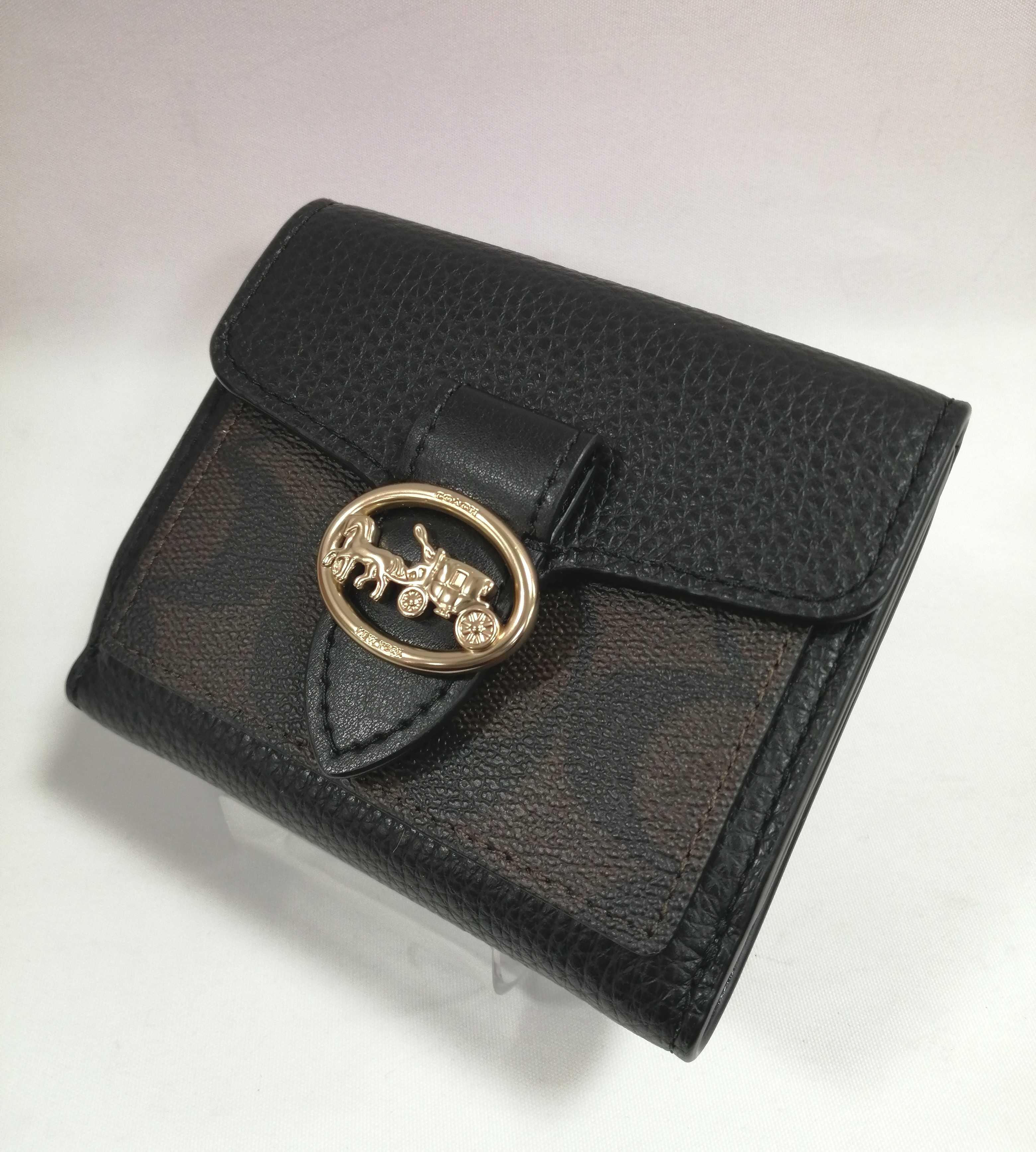 二つ折りレザー財布|COACH