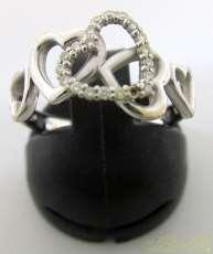 5連ハートモチーフリング|宝石付きリング