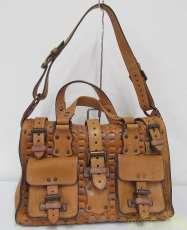レザー2ポケットハンドバッグ|MULBERRY