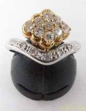 PT900 K18ダイヤモンドリング|宝石付きリング