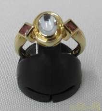 K18石つきリング