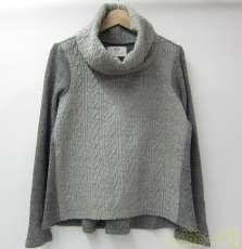ウール混ケーブルニット切替セーター|JUN OKAMOTO