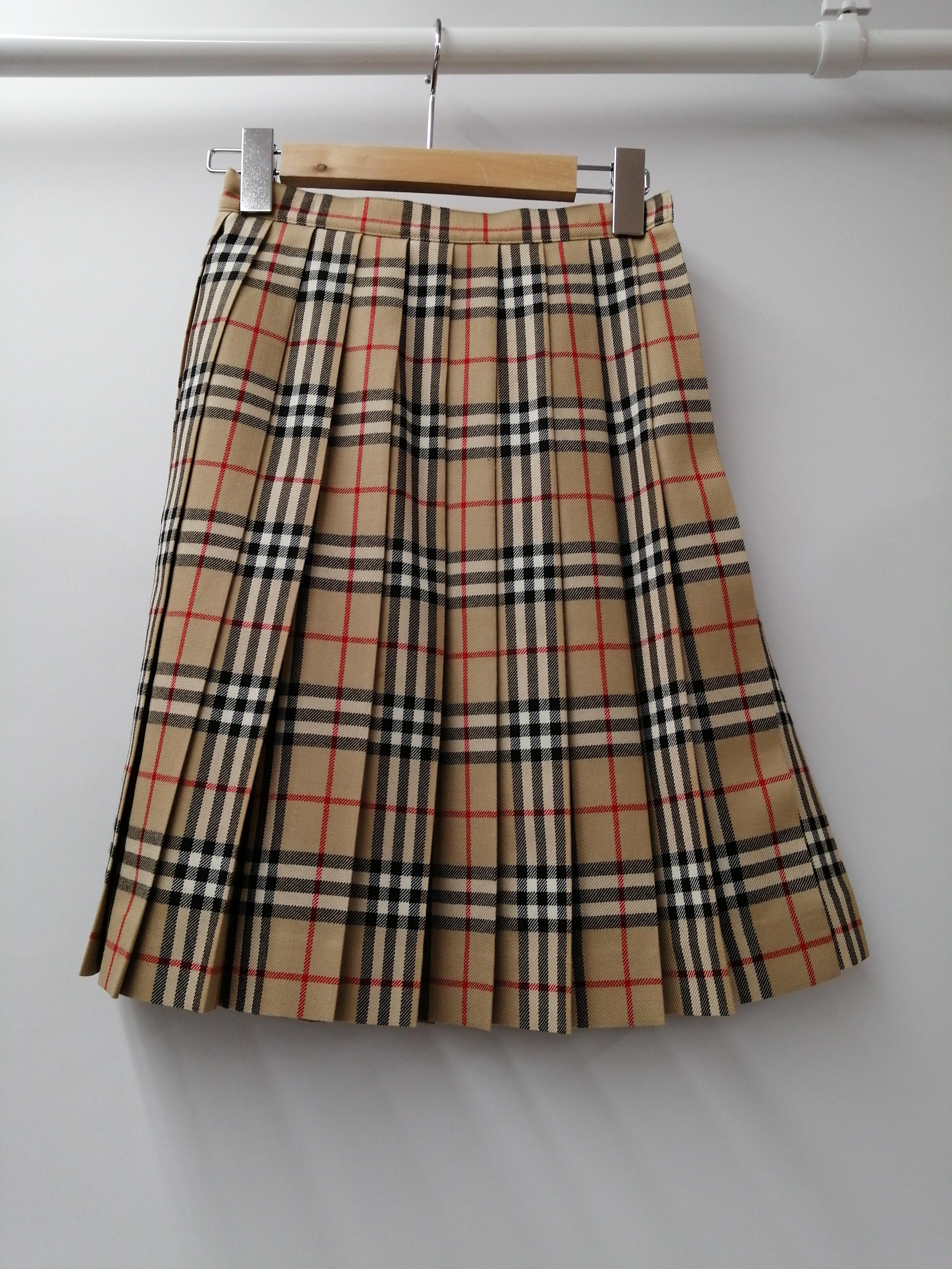 チェックプリーツスカート|BURBERRY