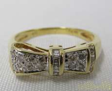 K18石付きリボンリング|宝石付きリング