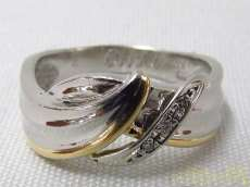K18PT900ダイヤモンドリング|宝石付きリング