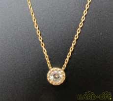 K18ダイヤモンドネックレス 宝石付きネックレス