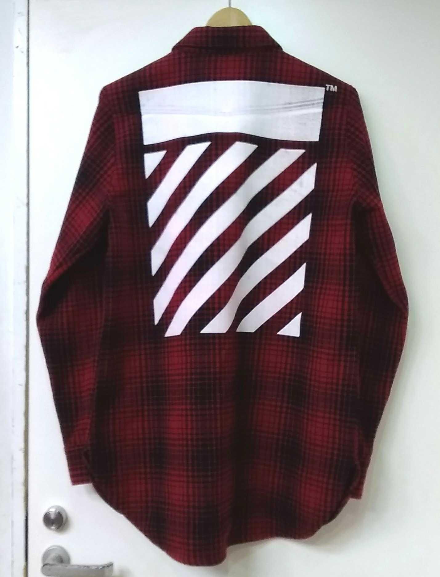 バイアスプリントウールシャツ|OFF-WHITE