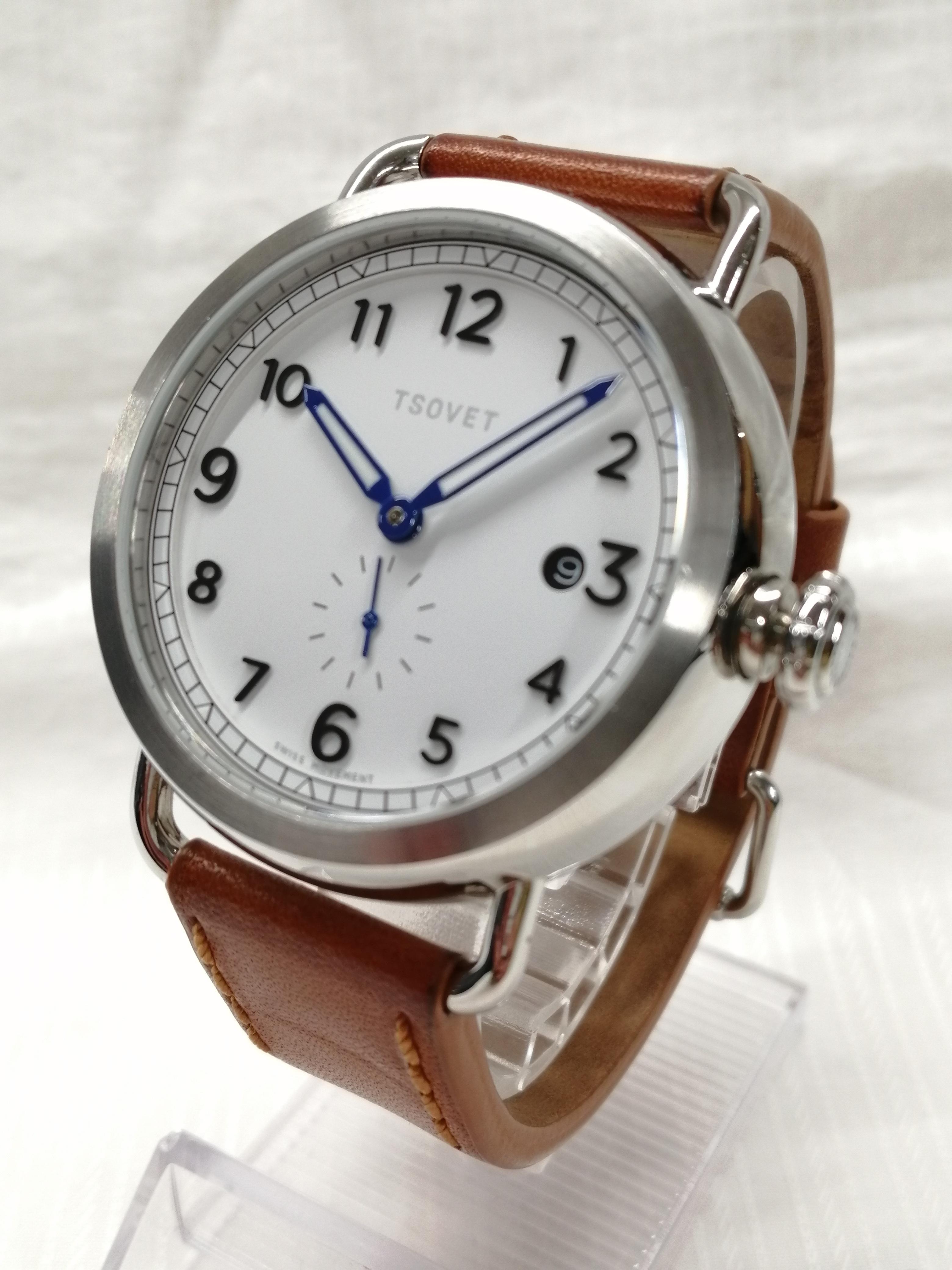 クォーツアナログレザーバンド腕時計|TSOVET
