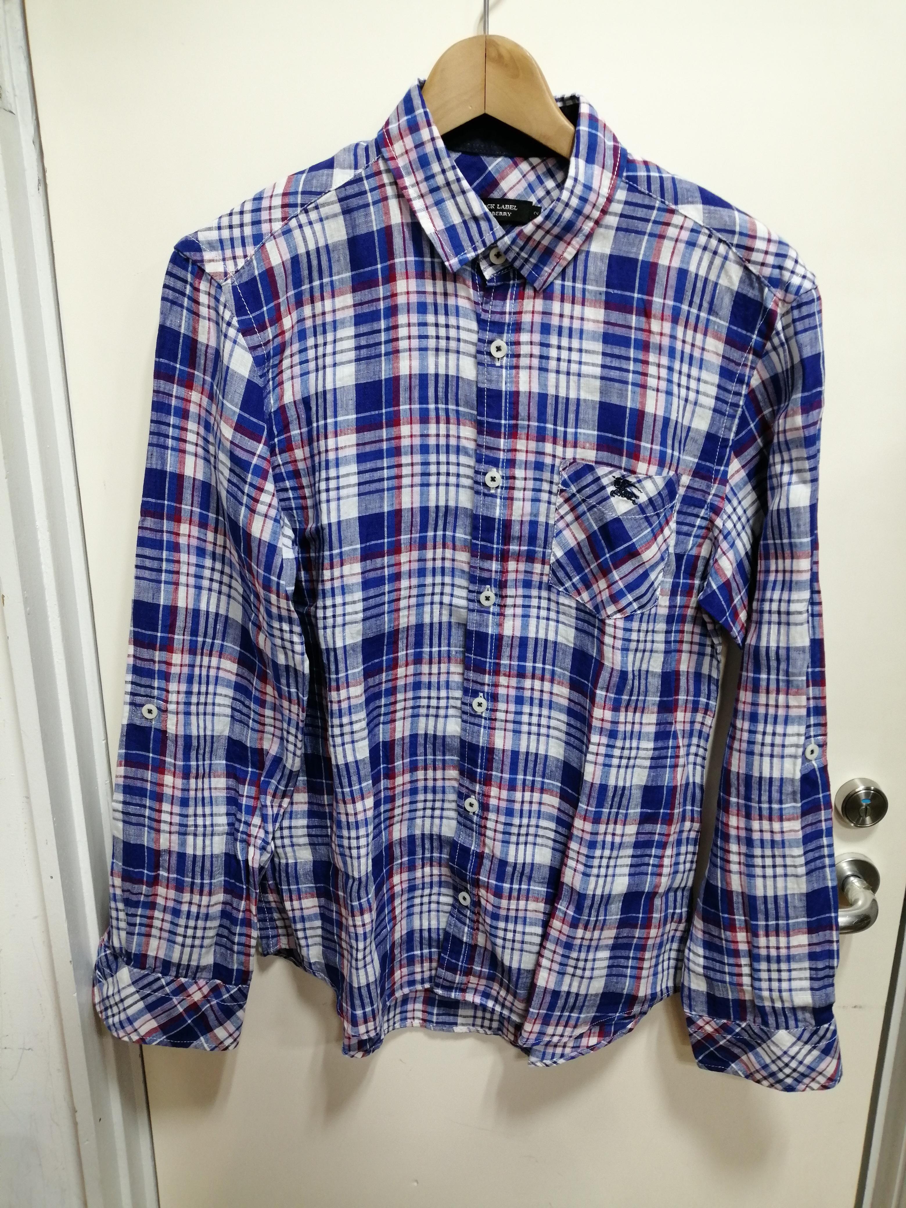 チェックリネンシャツ BURBERRY BLACK LABEL