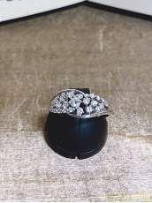 装飾付きPT900リング|宝石付きリング