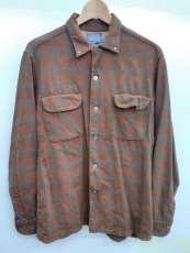 PENDLETONオンブレチェックオープンカラーウールシャツ PENDLETON