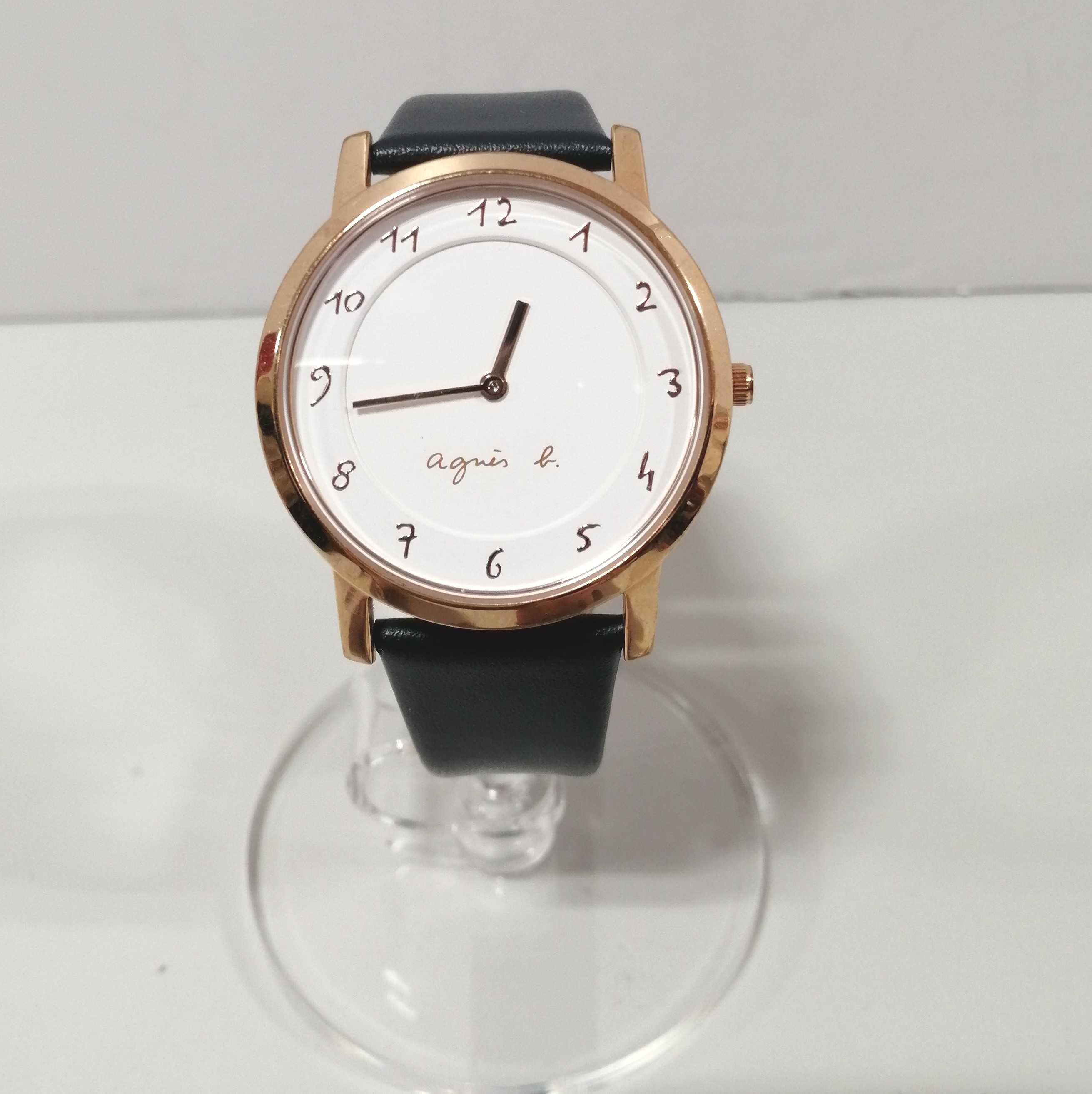 腕時計/BLK革バンド|AGNES B.