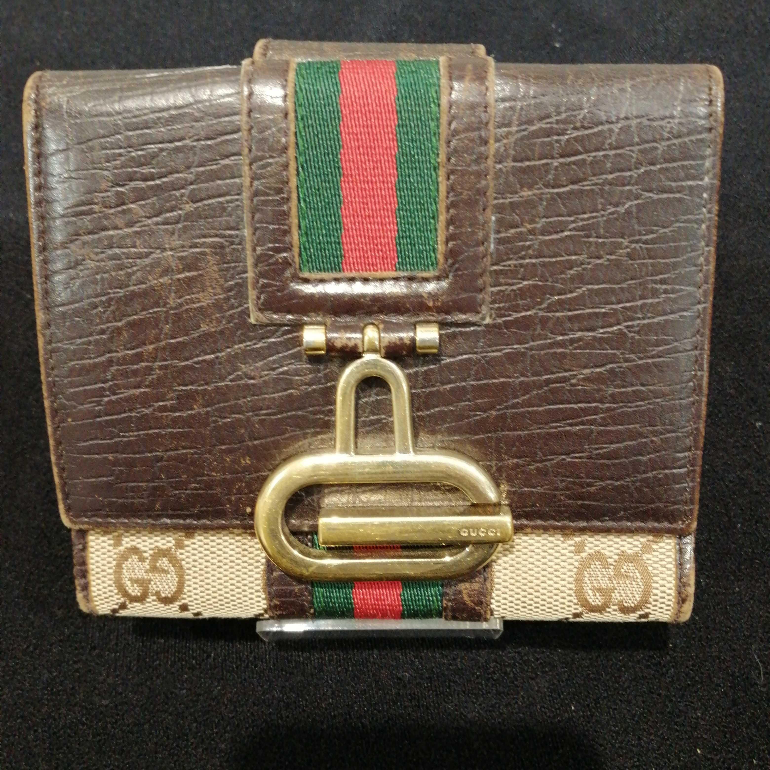 三つ折り財布シェリーライン|GUCCI