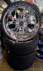 オフセット+20 22インチ タイヤセット ALEX DAVIS
