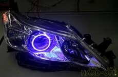 純正加工品 イカリング付きヘッドライト マークX|TOYOTA