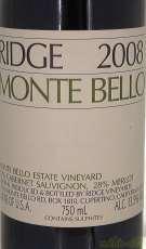 モンテベロ 2008|RIDGE VINEYARD