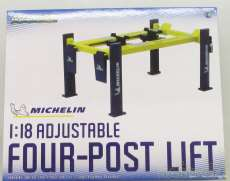 1/18 ADJUSTABLE FOUR-POST LIFT|GREEN LIGHT