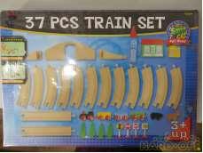 37PCS TRAIN SET|WOODEN