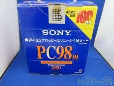 100枚 PC98用フォーマット 3.5型りフロッピー|SONY